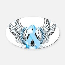Awareness Tribal Light Blue Oval Car Magnet