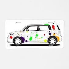 Pollock xBtiff Aluminum License Plate
