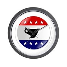 Tea-Party-Button-(dark-shirt) Wall Clock