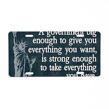11x17_DarkFlagBigGovt Aluminum License Plate