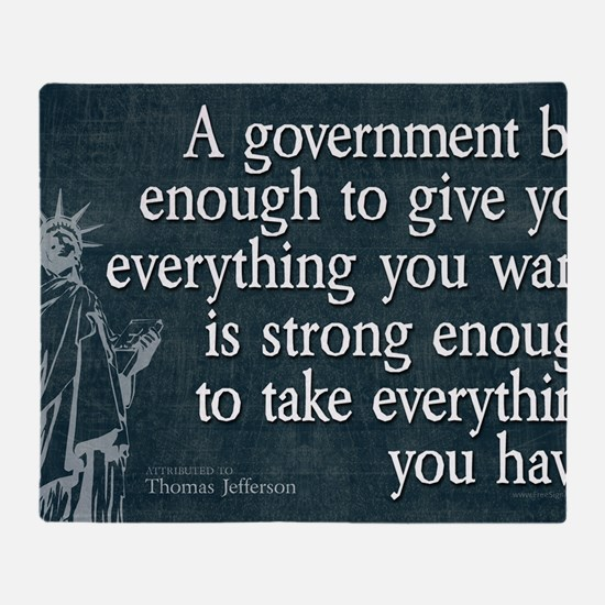 11x17_DarkFlagBigGovt Throw Blanket