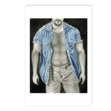 Blue shirt Postcards (Package of 8)