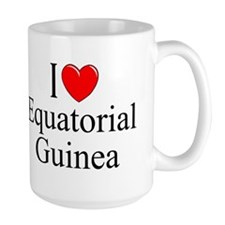 """""""I Love Equitorial Guinea"""" Mug"""