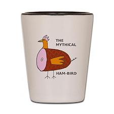 The Mythical Ham-Bird Shot Glass