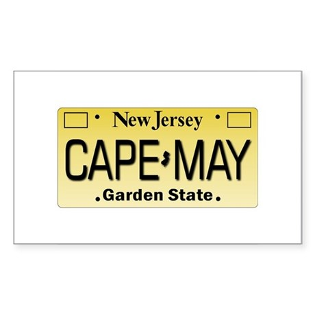 Cape May Rectangle Sticker