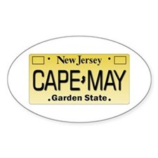 Cape May Oval Decal