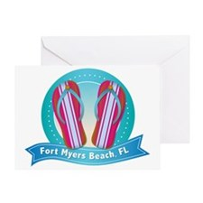 Fort-Myers-Beach-Shoes Greeting Card