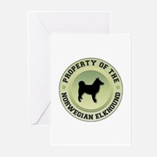Elkhound Property Greeting Cards (Pk of 10)