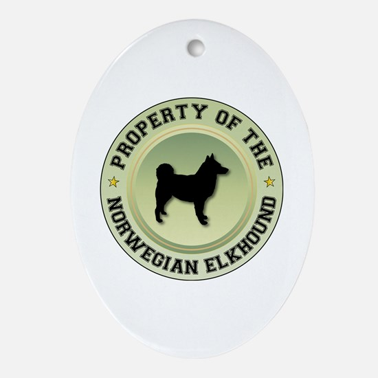 Elkhound Property Oval Ornament