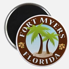 Palm-trees-Fort-Myers-Beach Magnet