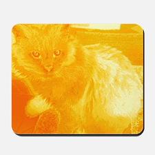 gray cat6 Mousepad