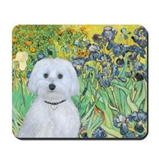 Irises - Maltese (B) Mousepad