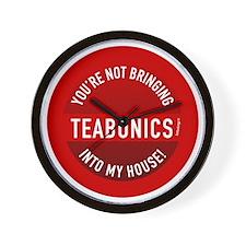 btn-no-teabonics Wall Clock