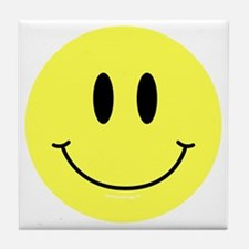 btn-symbol-smiley Tile Coaster