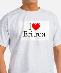 """I Love Eritrea"" Ash Grey T-Shirt"