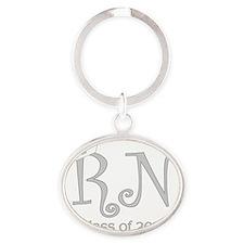 RN-silver-mid Oval Keychain