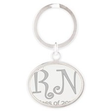 RN-silver Oval Keychain
