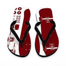 skateboardred Flip Flops