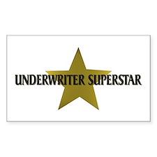 Underwriter Superstar Rectangle Decal