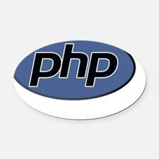 PHP-rails Oval Car Magnet