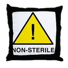 non-sterile Throw Pillow