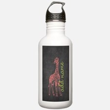 Chalkboard Giraffe Water Bottle