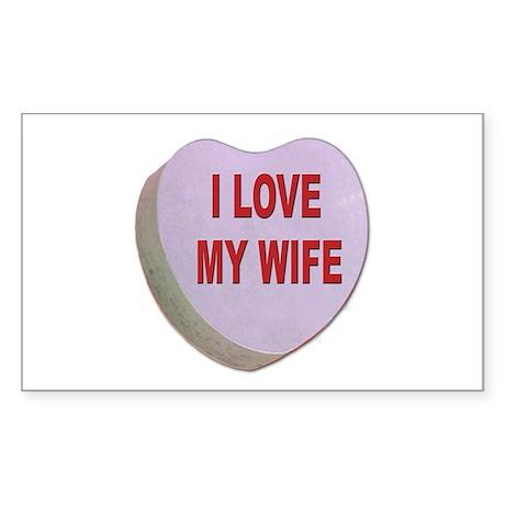 I Love My Wife Valentine Rectangle Sticker