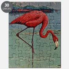 Flamingo Watercolor Puzzle