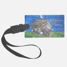 Hippo resting Luggage Tag