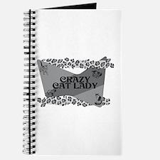 Crazy Cat Lady (b&w) Journal