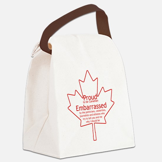 Proud to be Canadian Canvas Lunch Bag