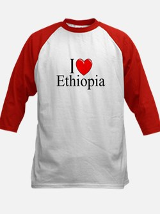 """I Love Ethiopia"" Kids Baseball Jersey"
