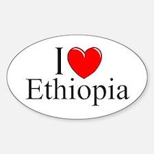 """I Love Ethiopia"" Oval Decal"