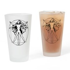VitruvianWomanrevised Drinking Glass