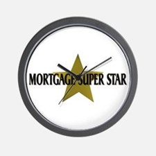 Mortgage SuperStar Wall Clock
