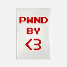 PWND by<3 Rectangle Magnet
