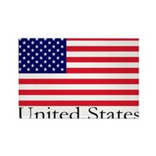 United States Rectangle Magnet (10 pack)