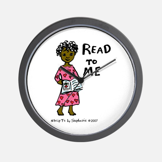 Read To Me 3 Wall Clock