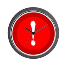 btn-typo-exclamation Wall Clock