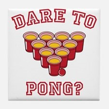 Dare To Pong Tile Coaster