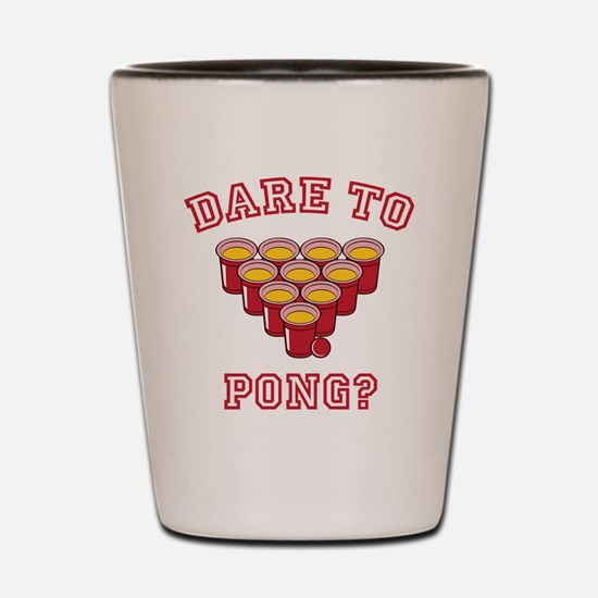 Dare To Pong Shot Glass