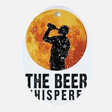The Beer Whisperer Oval Ornament