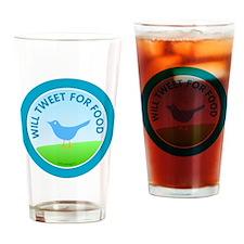 btn-tweet-for-food Drinking Glass