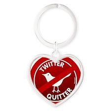 btn-twitter-quitter Heart Keychain