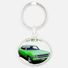 GreenRunner-10 Oval Keychain