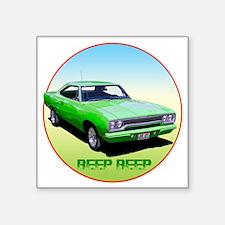 "GreenRunner-C8trans Square Sticker 3"" x 3"""