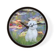 MP-Lilies 2 - Maltese (B) Wall Clock