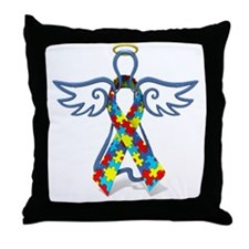 Autism Angel 10x10 Throw Pillow