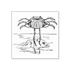 "dancingcrab Square Sticker 3"" x 3"""