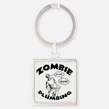 zombie-plumber-LTT Square Keychain